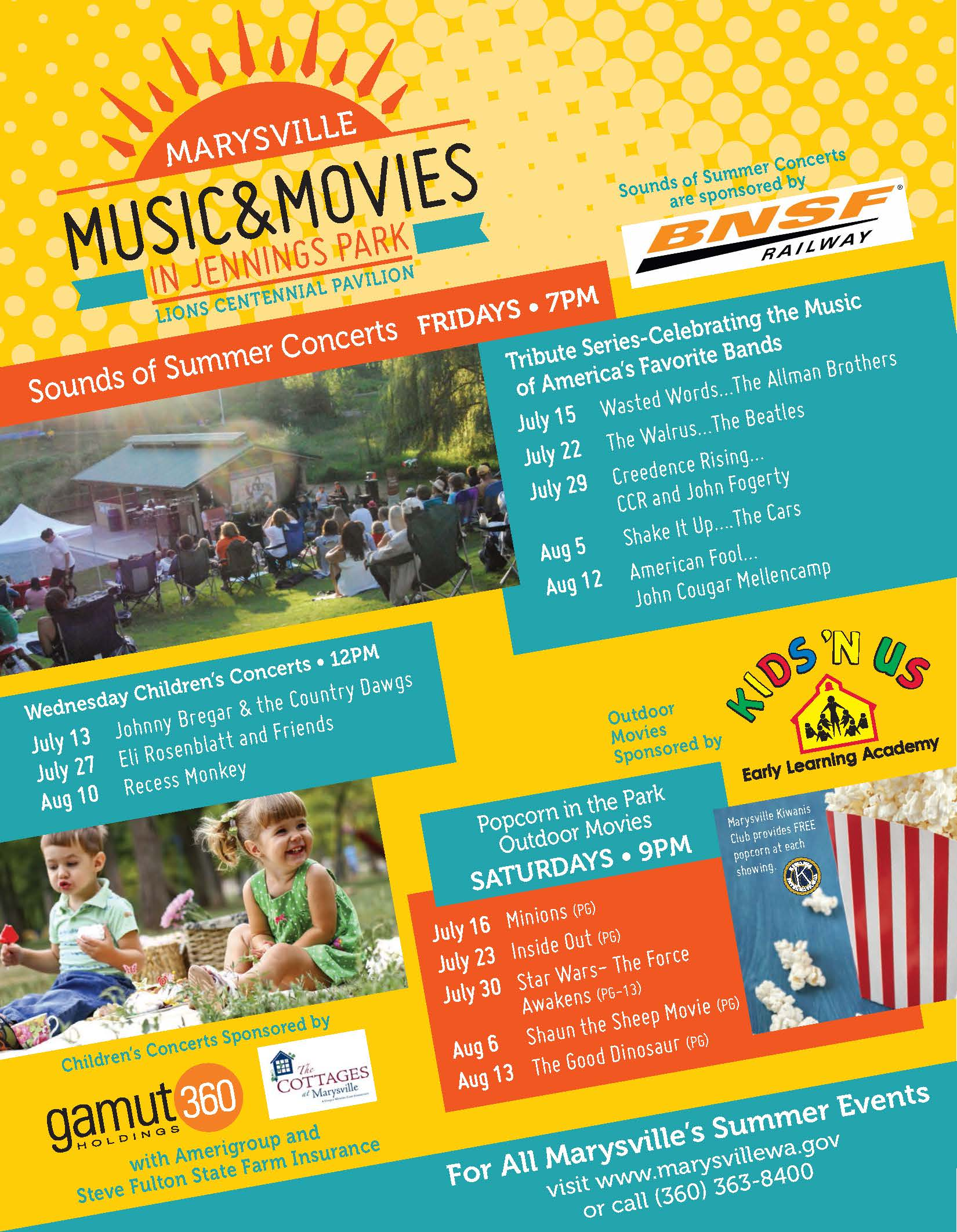 2016 Summer Concerts and Movies