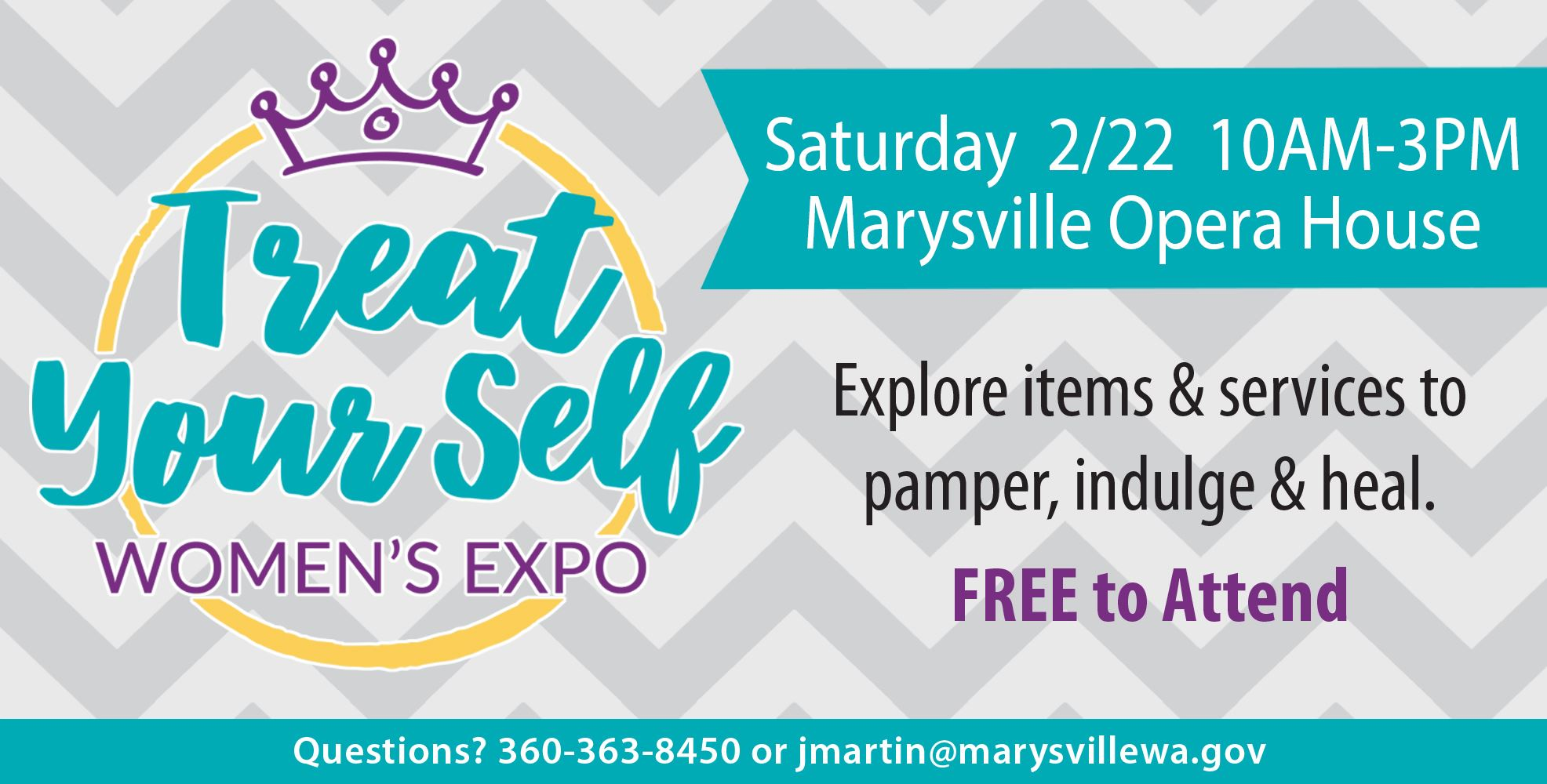 Treat Your Self Women's Expo on Saturday, February 22 from 10 a.m. to 3 p.m. at the Marysville Op