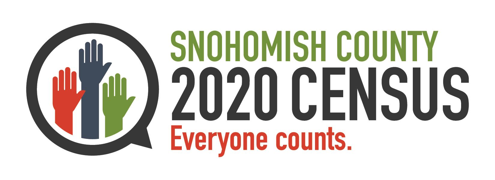 SnoCo 2020 Census logo