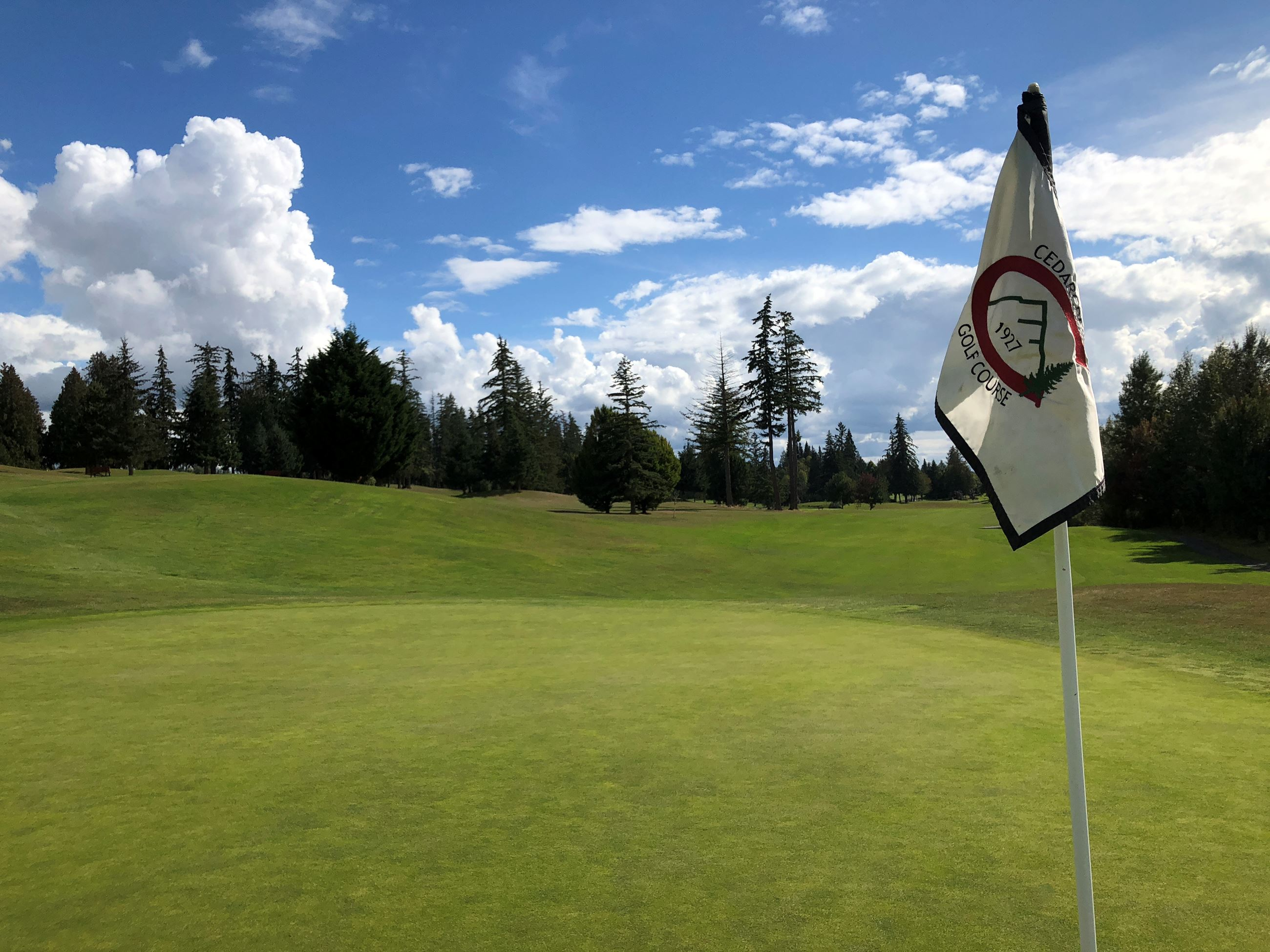 Cedarcrest Golf Course with flag