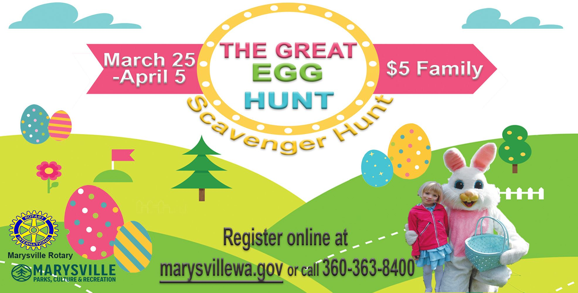 The Great Egg Hunt March 25-April 5