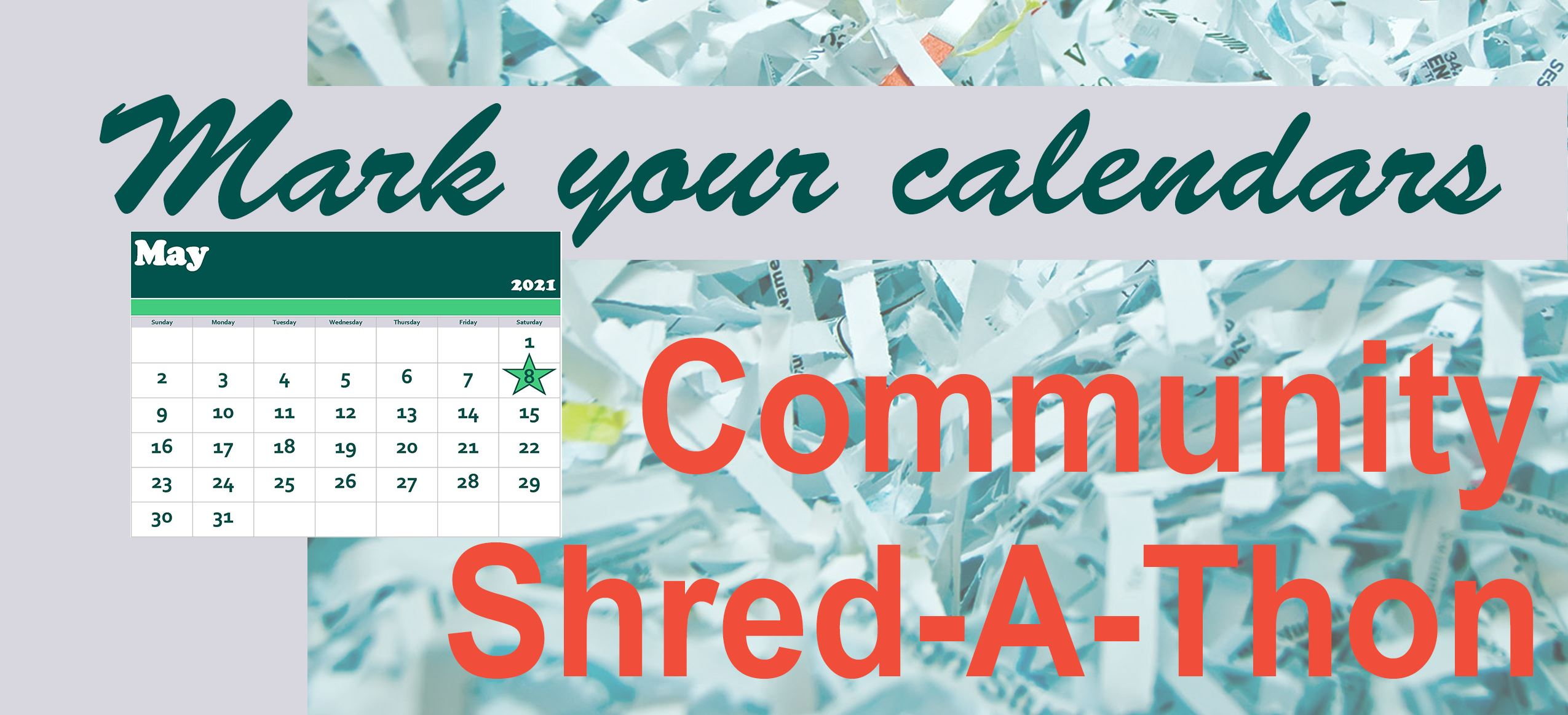 Shred-A-Thon May 8, 10 a.m.-Noon, Marysville City Hall, 1049 State Ave.
