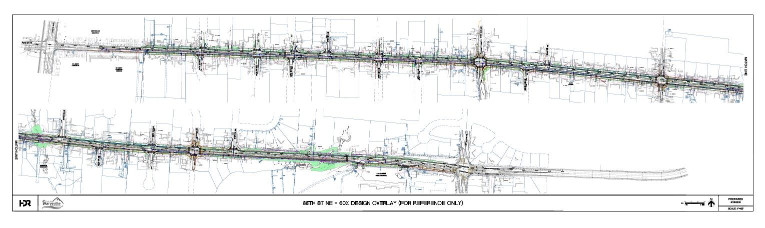 Drawing of 88th widening design at 60 percent for reference only - design will change Opens in new window